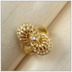 18k gold plated ring 1321070