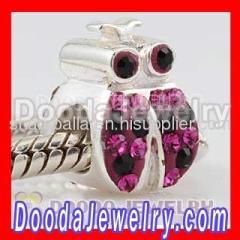 silver european ladybug charm