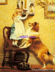 high quality handmade portrait oil painting from photo