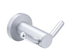 Aluminum bathroom hooks
