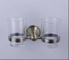 Bronze Double tumber glass holder