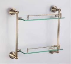 Bronze glass shelf Article Rack