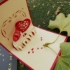 You and Me - Handmade 3D pop-up greeting card