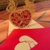 Heart - Handmade 3D pop-up greeting card