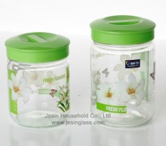 Jesin Glass Jars with heat transfer printing