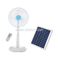 solar powered stand fans