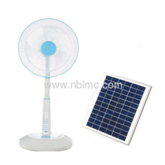 Oscillating solar powered fan
