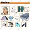 Medical cap & shoecover & gown & gloves & bedsheet