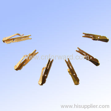Customized precision bronze brass metal stamping contact