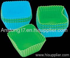 silicone square muffin cups