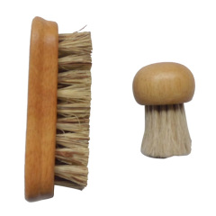 rubber wood vegetable brush set