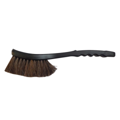 black horse hair car brush