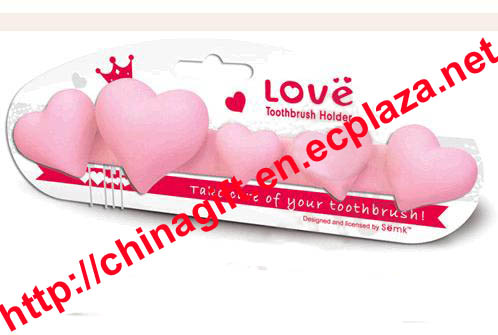 5 Heart Toothbrush Holder - can be Pasted on the wall
