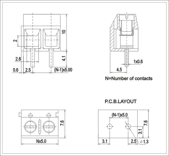 rohs screw terminal blocks from china manufacturer