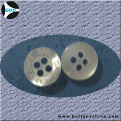 4 hole plastic shirt button
