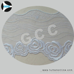 CHEMICAL NET EMBROIDERY LACE