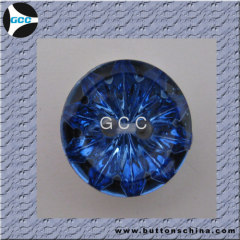 Ocean blue acrylic diamond button for fashion garments