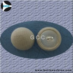 White Cover Fabric Button