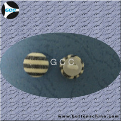 Black Cover Fabric Button