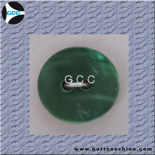 Green shell button
