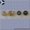Alloy metal button with stitch