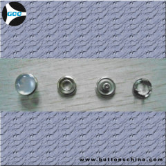 silver color Prong Snap metal button