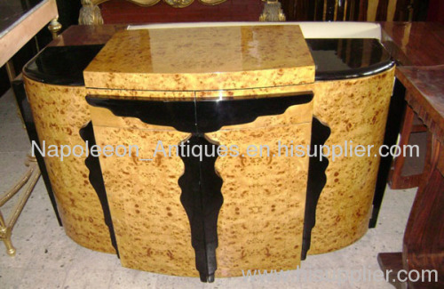Houston Texas French Art Deco Furniture Bar Server Texas Art Deco Bar Server Manufacturer From