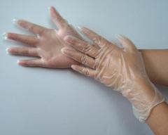 disposable blue vinyl gloves