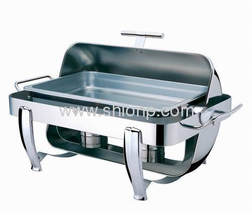 Rectangle chafing dishes with chrome legs