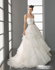 Newest Perfect Strapless Long Wedding Dresses