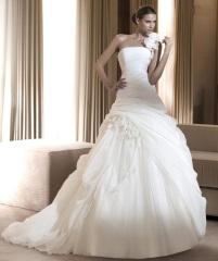 Unique rayon Classic Bridal Dress