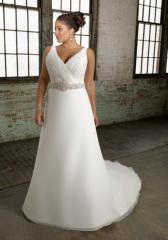Classic chiffon Plus Size Wedding dress