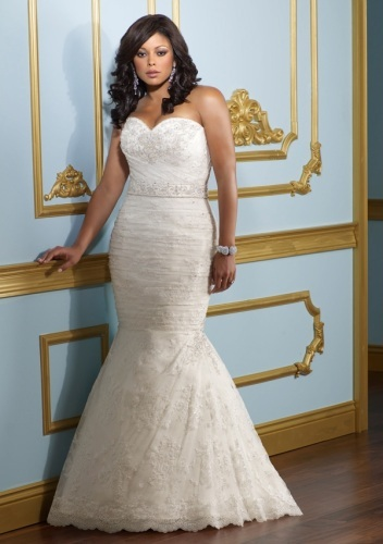 395 Thick Satin Wedding Dress
