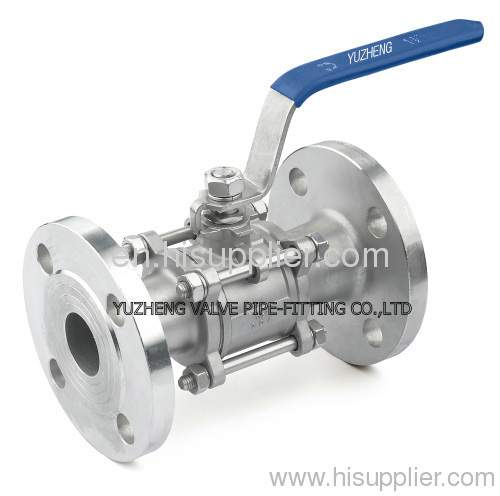 3pc flanged ball valve