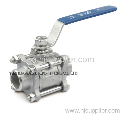 3PC STAINLESS STEEL BALL VALVES