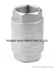 Vertical check valve