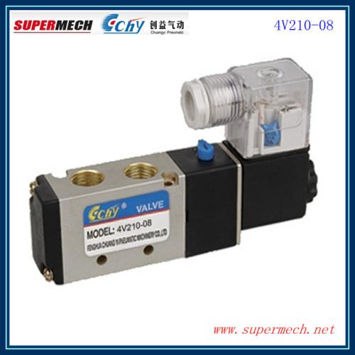 4V210-08 AIRTAC type solenoid control valve DC 24V AC220V