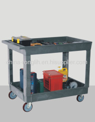 plastic lipped shelf carts