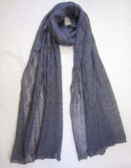 purple acrylic scarf, measuring180*60cm