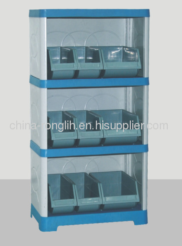 four layers Plastic kitchen cabinet