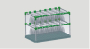 Glass holder kitchen ware shelf