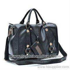 Simple casual leather handbag wholesale