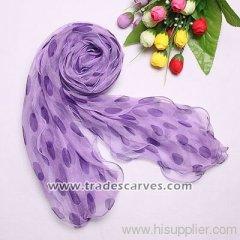 Fashion ladies's three layers chiffon scarves 034