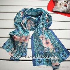 170*52 crepe satin plain oilpainting heavy long silk scarves 001