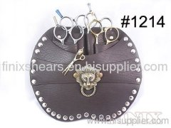 Stylish Coffee Color w/ Lion Head Stereoscopic Logo Scissor Holster