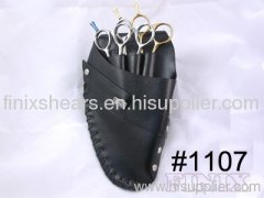 High Quality Black Leather Hairdressing Scissor Holster