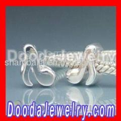 2012 european Silver Music Note Charm Beads
