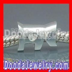 2012 New Arrival european Silver Dog Charm Beads
