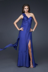 evening dresses in blue color