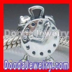 2012 european Sterling Silver Clock Charms Bead